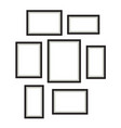 photo frame template set hanging on wall vector image vector image