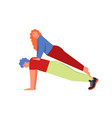 plank yoga pose flat style design vector image vector image