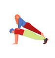 plank yoga pose flat style design vector image