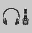 realistic headphones design - 3d vector image vector image