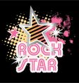 Rock star graphic vector image