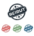 Round Beirut city stamp set vector image vector image