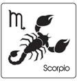 scorpio zodiac astrology sign vector image vector image