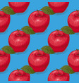 seamless pattern ripe red apples vector image