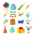 set of holiday icons vector image vector image