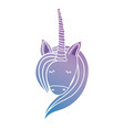 silhouette cute unicorn head with hairstyle vector image vector image