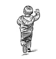 sketch a running little boy