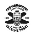 skull snowboarder in knitted hat and two boards vector image vector image