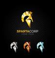 sparta helmet logo design template vector image