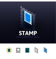 Stamp icon in different style vector image vector image