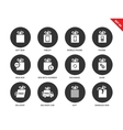 Technology gifts icons on white background vector image vector image
