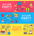 thin lines icons of dj staff and any equipment set vector image vector image