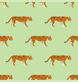 tiger action wildlife animal danger mammal vector image vector image