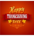Typographic Thanksgiving Design vector image vector image
