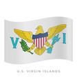 us virgin islands waving flag icon vector image vector image