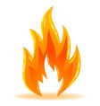 vector symbol fire shiny flame vector image vector image