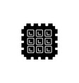 waffle icon black sign on vector image vector image