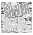 Why Silver May Be A Golden Investment For 2007 vector image vector image