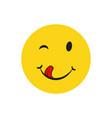 yummy smile emotion vector image