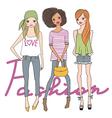 Fashion cute girls vector image