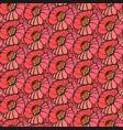 hand drawn poppy flower vector image