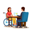 disabled woman equal opportunities concept vector image