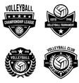 set of volleyball sport emblems design element