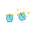 alarm clock icon flat cartoon vector image