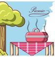 picnic design concept vector image