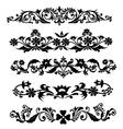Swirl Floral Design vector image