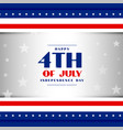 4th july american independence day patriotic vector image vector image