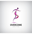 abstract overcome logo Man running moving vector image vector image