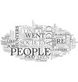 add society needs hunters text word cloud concept vector image vector image
