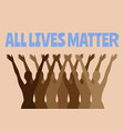 all lives matter lettering with hand drawn vector image
