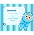 baby boy card 3 vector image vector image