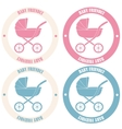 Baby friendly stickers vector image