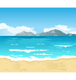 beautiful summer background with beach vector image vector image