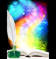 big book of fairy tales vector image