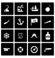 black pirate icon set vector image vector image