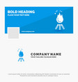 blue business logo template for fire flame vector image