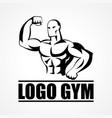 bodybuilder icon or symbol vector image vector image