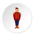 British soldier in uniform icon cartoon style vector image vector image