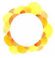 bubble yellow and orange watercolor banner vector image vector image