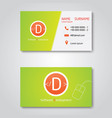 business card template modern flat design vector image vector image