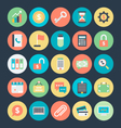 Business Colored Icons 1 vector image vector image