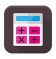 Calculator flat app icon with long shadow vector image vector image