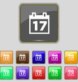 Calendar Date or event reminder icon sign Set with vector image vector image