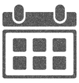Calendar Grainy Texture Icon vector image vector image