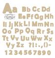 Cardboard font vector image