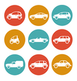 Cars in circles vector image vector image